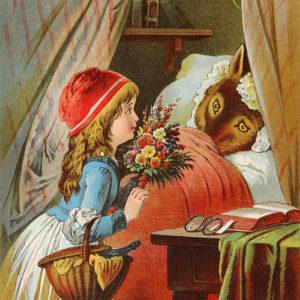 Bei der Großmutter liegt der Wolf im Bett …